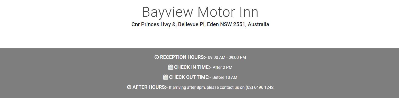 Bayview Motor Inn - Eden
